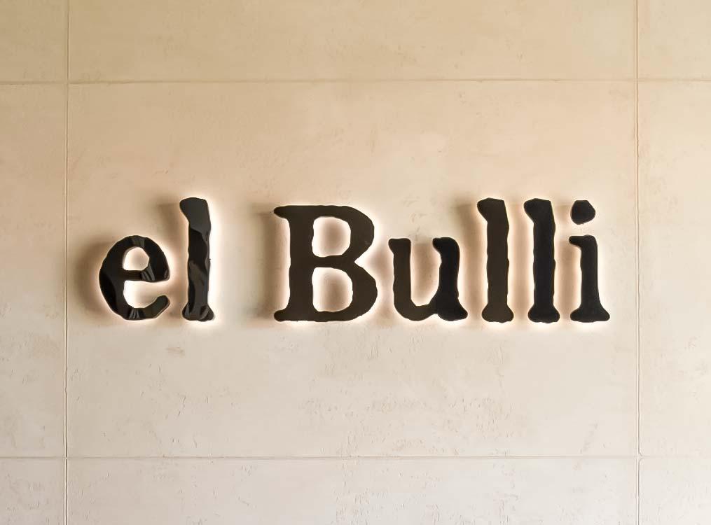 Litery przestrzenne z efektem halo el Bulli
