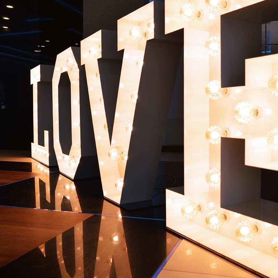 Dekoracyjne Litery 3D LOVE