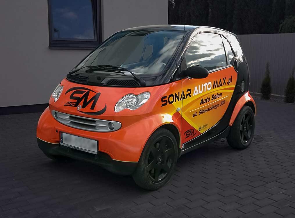Grafika na pojeździe Sonar Auto Max