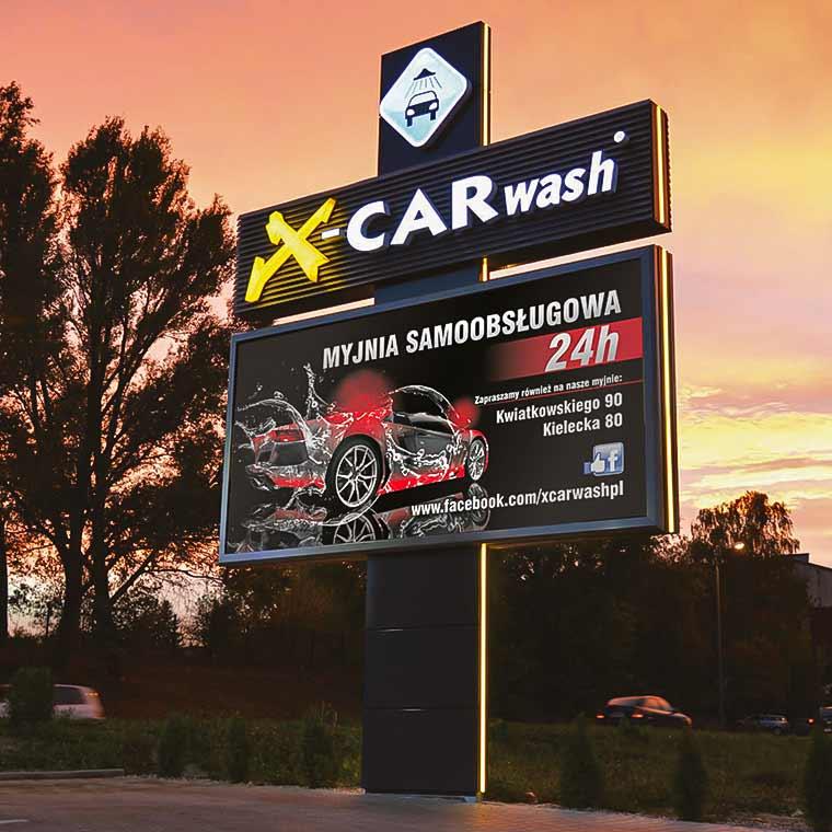 Pylon X-Car Wash